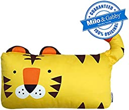 MILO & GABBY The Original Kids Animal, 100% Steen Cotton, 320 - Thread count, Zippered Closure Pillow cover, 12 x 20 inches, Tom