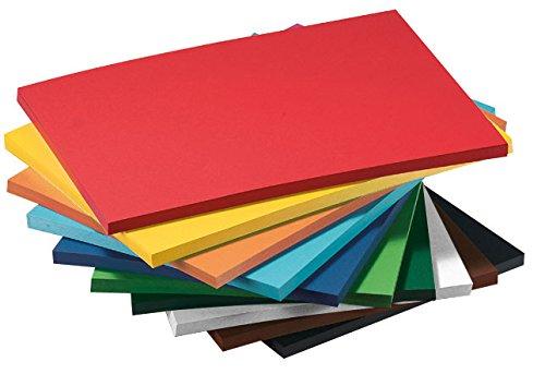 Tonkarton 250 Blatt DIN A4 220g/m², farbig sortiert