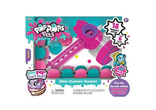 Pop Pops - Pets - Play Set - Hammer - 18 Piece Bubbles