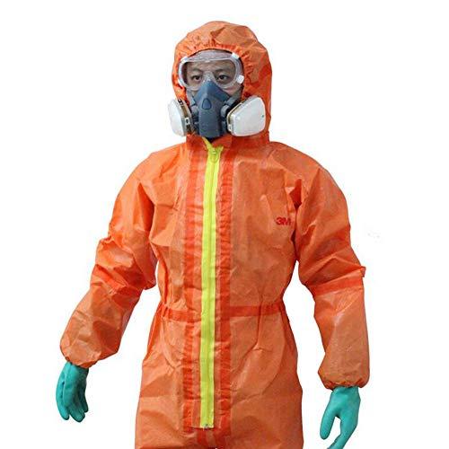 QICLT Alte Prestazioni Tuta Protettiva Contro Sostanze chimiche, polveri, Particelle nucleari, antistatica Cappello Regolabile,XL