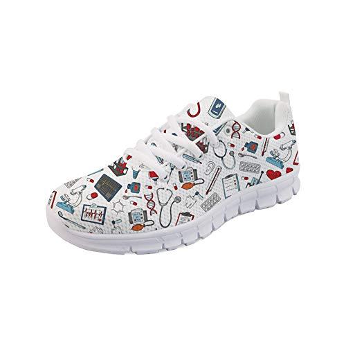 POLERO - Scarpe da donna Nurse Shoes, scarpe da infermiera, leggere, camminate, tennis, scarpe da corsa, per donne, sport, appartamenti, taglia 36