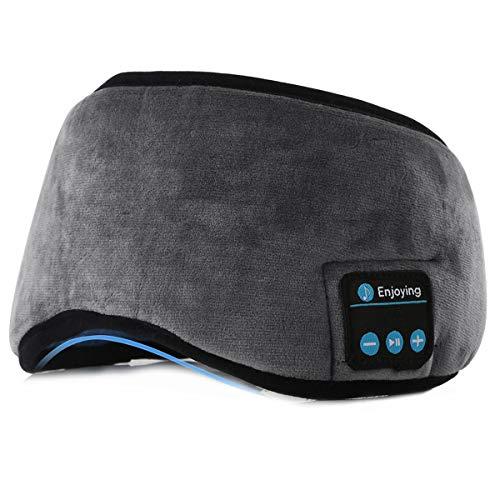 Schlafkopfhörer Drahtlos Bluetooth, Bluetooth-Schlafmodus Drahtloser Kopfhörer für Seitenschläfer Lärmminderung, Augenbinde für Männer Frauen Schlafen, Reisen, Meditation