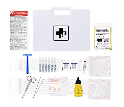 Erste-Hilfe-Set für Haustiere (enthält ANTISEPTISCHE LÖSUNG, PHYSIOLOGISCHEN SERUM, RETTUNGSDECKE, Shaver.) (Hartplastik)
