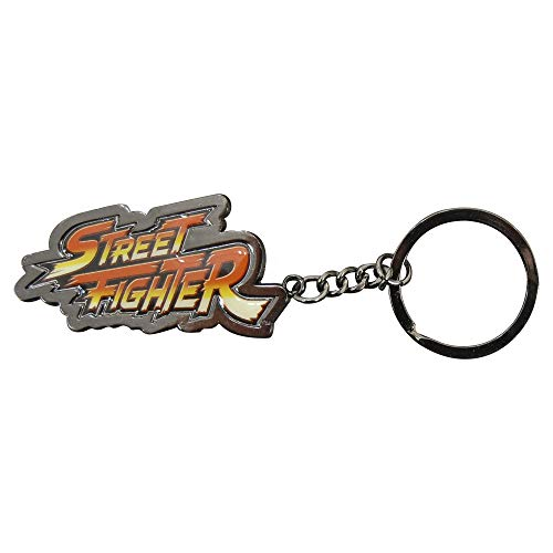 Porte-clés en métal PMS Street Fighter V sur carte au dos