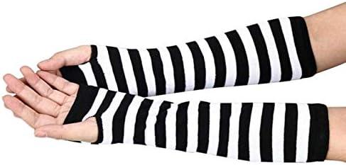Winter New Wrist Arm Hand Warmer Knitted Long Fingerless Gloves Mitten Men Women Gloves Drop Shopping #30 - (Color: White)