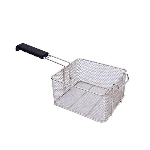 Freidora profunda de acero inoxidable de la cesta de aceite frito frito de pescado Nuggets Freír alimentos cocina sartén
