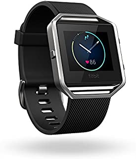 Fitbit Blaze Smart Fitness Watch, Black, Silver, Small (5.5 -  6.7 inch) (US Version)