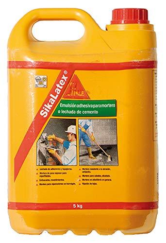 SikaLatex, Emulsión adhesiva, listo para usar, para mortero y lechada de cemento, Blanco, 5kg