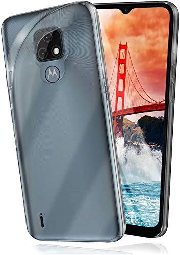 moex Aero Hülle kompatibel mit Motorola Moto E7 - Hülle aus Silikon, komplett transparent, Klarsicht Handy Schutzhülle Ultra dünn, Handyhülle durchsichtig einfarbig, Klar