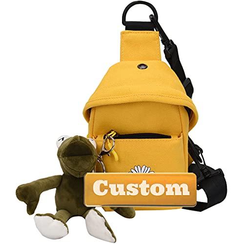 Nome personalizzato Signora Elegante Borsa a tracolla per donna per donna Sling Leggero Casual Daypack daypack piccolo (Color : Yellow, Size : One size)