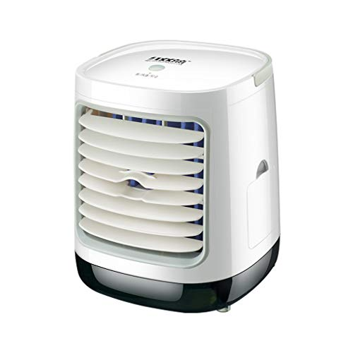 Lomelomme Climatizador portátil, ventilador de aire acondicionado, mini enfriador de aire, humidificador, purificador, pequeño, aire acondicionado, portátil, oficina Blanco #Rectángulo Talla única