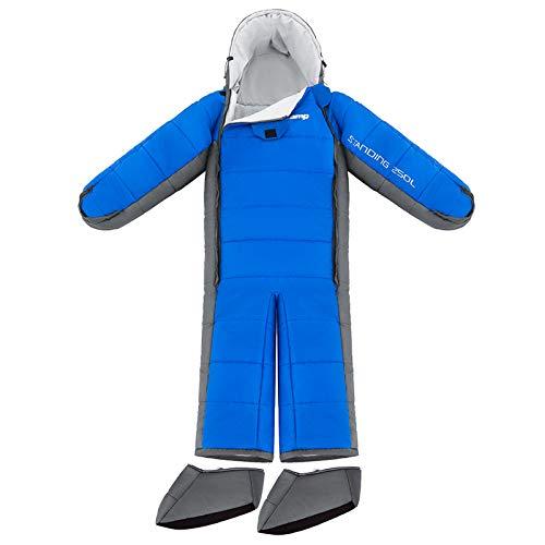 KingCamp 寝袋 人型寝袋 シュラフ 丸洗いOK 着る寝袋 歩ける寝袋 撥水加工「最低使用温度-8℃」 アウトドア キャンプ 釣り 室内 防寒グッズ
