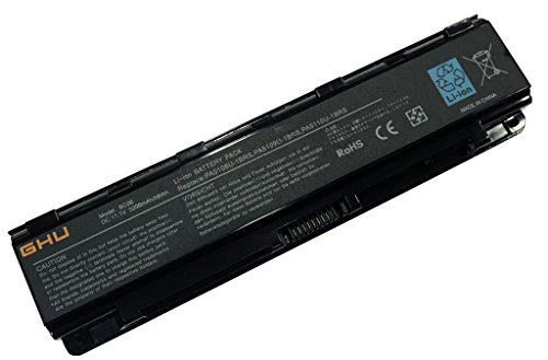 New GHU Replacement Laptop Battery 58 WH PA5109U-1BRS Compatible with Toshiba Satellite PABAS271 PABAS272 PABAS273 PA5110U-1BRS PA5108U-1BRS 6-Cell Li-Ion 5200 mAh