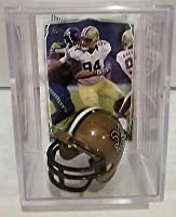 Cameron Jordan New Orleans Saints Mini Helmet Card Display Collectible Case Auto Shadowbox Autograph