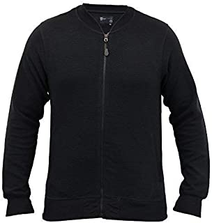 Dissident Mens MA1 Sweatshirt Baseball Style Ribbed Zip Top Casual Winter New