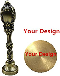 MDLG Customize Your Design Picture Logo Text Wax Seal Stamp Vintage Peacock Copper Handle Set