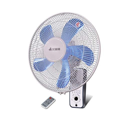 """Ventilador eléctrico Ventilador de Pared, Ventilador Montado En La Pared con Control Remoto de 16 """", Motor de Cobre Completo de 60W, Temporizador de Cita de 8H, para Refrigeración Interior En Verano"""
