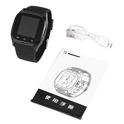 QiKun-Home Neuestes Update M26 Wireless Smartwatch Smart Wrist Digitaluhren Sync Phone Mate für iPhone für Android-Telefone Schwarz