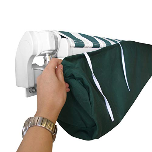 Baogu Markisenabdeckung Abdeckung Schutzhülle für Markisen Wasserdicht Grün (2,5m)