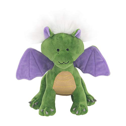 Lambs & Ivy Dragon Plush Green/Purple Stuffed Animal Toy - Gus