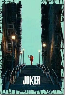 baodanla Stil Film Joker Bilder Joaquin Phoenix Print Seidenposter für Ihr Zuhause Wanddekoration50x70cm(Kein Rahmen)
