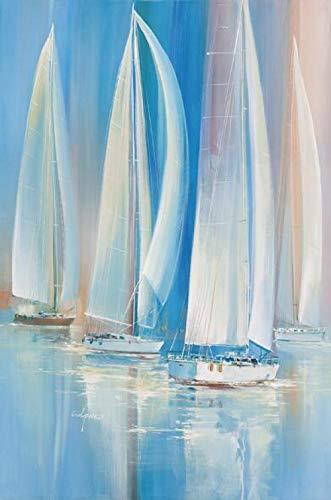 zxkx Fotos abstractas del Barco de Vela Sin Marco 50x75cm Sin Marco PC8581