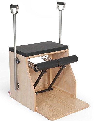 ELINA PILATES. Combo Chair_Base Madera – Silla de Pilates, complemento Ideal para los Estudios de Pilates. Material Estabilidad.