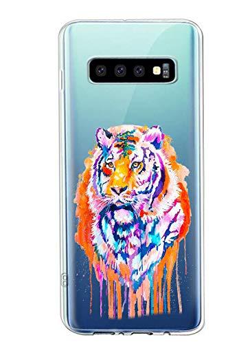 Oihxse Compatible con Samsung Galaxy J7/J7 NXT/J7 Core Funda Suave Gel TPU Silicona Cristal Transparente Carcasa Acuarela Animal Pintado Patrón Protectora Estuche Bumper Caso Case (B4)
