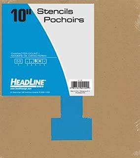 Headline Sign 109 Stencil Set, 10-Inch Numbers 0-9