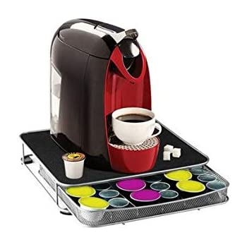 Soporte para cafetera y cajón para cápsulas Nespresso y Dolce Gusto (30 a 60 cápsulas): Amazon.es: Hogar