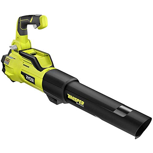 RYOBI 40-Volt Bare Tool Lithium-Ion Brushless Cordless Variable-Speed 125 MPH 550 CFM Jet Fan Leaf Blower GEN4 (Tool-Only) (Renewed)