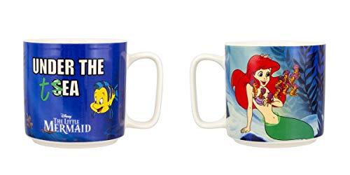 Disney Tasse Arielle die Meerjungfrau blau, Bedruckt, aus Keramik, 320 ml, in Geschenkkarton.