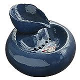 OocciShopp Bebedero, Bebedero para Mascotas Bebedero de cerámica para Perros y Gatos Dispensador de Agua de cerámica para Beber para Gato (Azul)