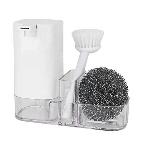 Qiilu Reinigingsborstelset, 3 stks/set Plastic Reinigingspot Borstel Staaldraad Bal Wasmiddel Fles Afwassen Wassen Keuken Reinigingsborstelset