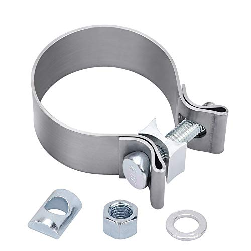 EVIL ENERGY 2.5 2 1/2' Exhaust Band Seal Clamp Muffler Pipes Connect Stainless Steel