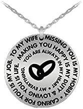 to my gorgeous wife pendant