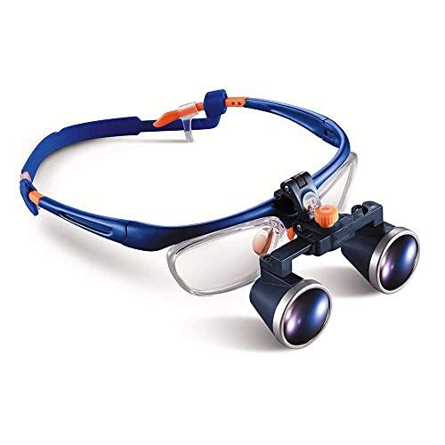Lupa con Luz, Lupas QuirúRgicas Dentales MéDicas, Marco De Gafas Aprobado por La Fda De 2,5 X 420 Mm, Lupa MéDica, Lupas Binoculares