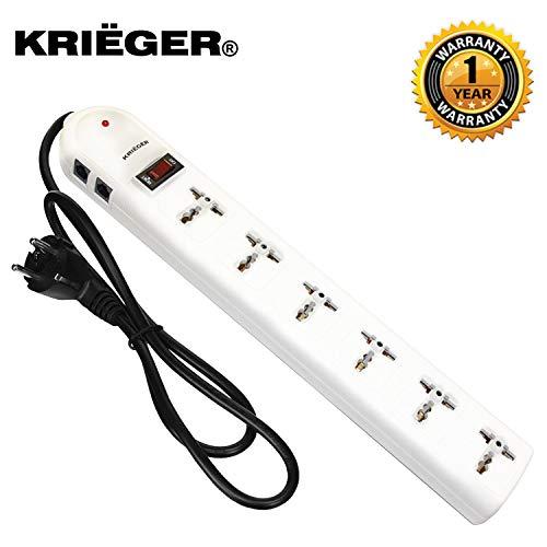 Kriëger-Regleta de 6enchufe con puesta a tierra (220/240V, para 2300W máx.) con enchufes universales
