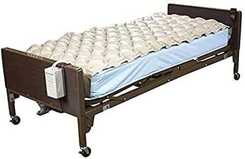 NQCT Anti-Dekubitus-Luftmatratze wasserdichte aufblasbare Anti-Bett-Matratze mit elektrischer Pumpe, Druckpolster für Druckgeschwür und Drucksachebehandlung 4.17