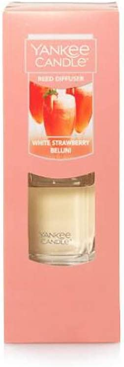 Yankee Candle White 在庫処分 メーカー直売 Strawberry Diffuser Reed Bellini
