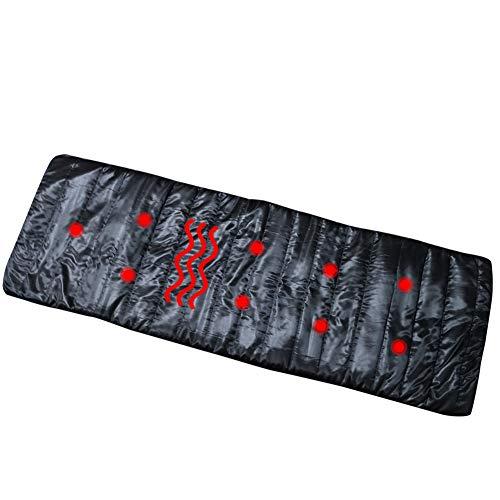 Multifunktions Infrarot Massage Matratze Elektrische Massage Pad Zurück Taille Hals Körper Gesundheit Massagegerät,Schwarz