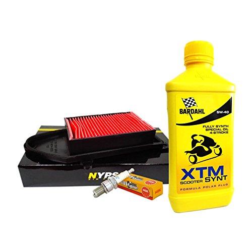 Kit tagliando Bardahl XTM 5W40 filtro aria candela Agility/People 125/150/200