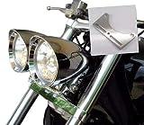 Motorcycle Bottom Mount Dual Headlight Head Light Bracket for Harley Honda Kawasaki Honda Suzuki...
