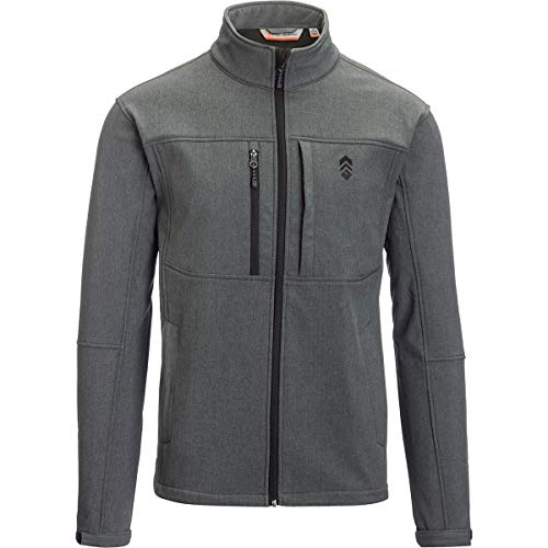 Free Country Softshell Jacket - Men's PC. Dye Charcoal, L