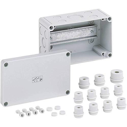 Spelsberg 1196962 Reihenklemmengehäuse Leer, 180 x 110 x 90 mm, IP66, RK 4/18 K-L, grau