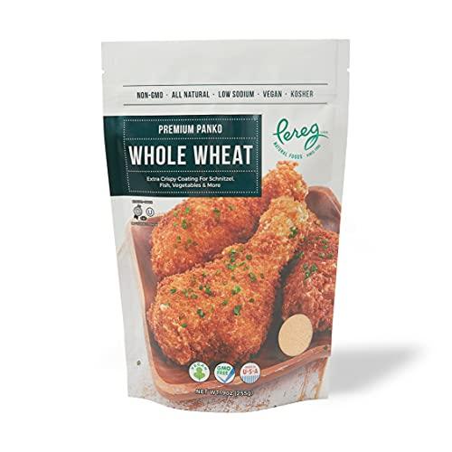 Bread Crumbs - Whole Wheat Premium Panko - 9 oz - Natural Grocery & Gourmet Foods - Low Sodium, Vegan, Kosher Certified & Non GMO