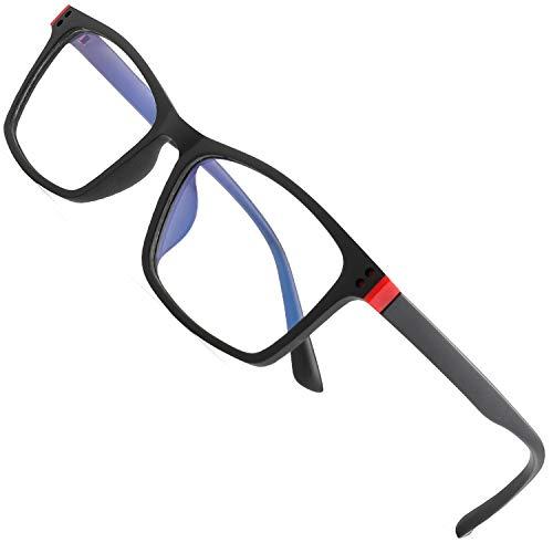Anti-Schwindel Blaulichtfilter Brille für TV PC Bildschirme etc Blaue Licht Blockieren Brille Computerbrille Anti Müdigkeit Anti Blaulicht Unisex Verringerung der Augenbelastung Anti-Müdigkeit, 1