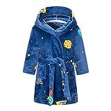 Kinder-Bademantel, Flanell, Nachtwäsche, Baby-Bademäntel für Mädchen, Kleidung, Winter, warm, Hauskleidung, Kinder-Bademäntel, Kleidung, Nachtwäsche, Größe L, Blau