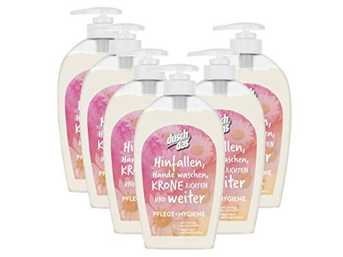 Duschdas Flüssigseife Pflege und Hygiene Spender, 6er Pack (6 x 250 ml)