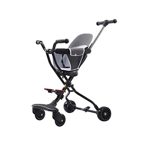 Buy Discount YEXIN All-Terrain Folding Stroller, Elegant Folded Pram Buggy with Adjustable Push Hand...